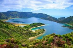 Lagoa do Fogo in the Azores archipelago, a string of nine islands in the Atlantic Ocean about 1,300 kilometers west of Portugal's mainland
