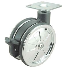 Richelieu Hardware 97510022502 Non Hooded Twin Wheel Design Caster,  Chrome/Black