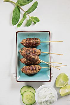 Lamb Kofte with minted cucumber yoghurt