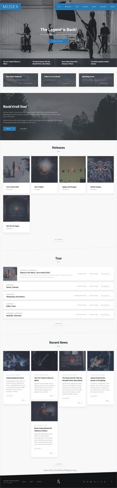 Muse is clean and modern design 7+ responsive #WordPress theme for #music, #band, musician, radio, DJs website with online shop and blog to live preview & download click on Visit
