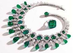 Brooke Astor's 22.84Ct. Emerald and Diamond Ring valued approx. $150,000 and Emerald and Diamond Necklace valued at $350,000  to be auctioned By Sotheby's New York Sept. 17th