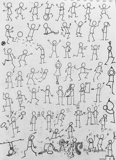Doodle Drawings, Cartoon Drawings, Doodle Art, Drawing Lessons For Kids, Art Lessons, Screen Beans, Visual Note Taking, Stick Figure Drawing, Sketch Notes