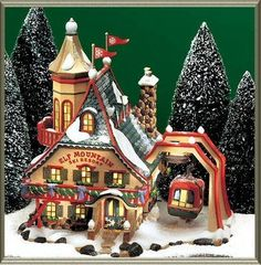Department Dept. 56 North Pole Village Elf Mountain Ski Resort - D56 NP