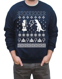 CYBER Monday Etsy Ugly Christmas Sweater Geeky Pullover Sweatshirt S M L XL XXL
