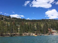 Luxury in the Rocky Mountains - Pyramid Lake Resort - our view from the water