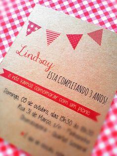 Convite :: Picnic Party :: Birthday Ideas