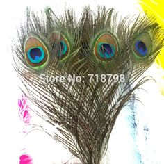 Free Shipping Wedding Centerpieces 200pcs/lot 25-30cm 10-12 inches Big Eye Natural Green Peacock Feather Peacock Plumes(China (Mainland))