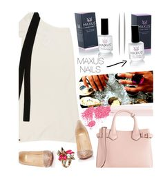 """""""Maxus Nails 1/1"""" by merima-kopic ❤ liked on Polyvore featuring beauty, Chanel, Christian Louboutin, Burberry, Mawi, nails, brand, maxusnails and maxus"""