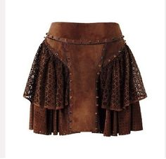 Gladiator: leather layered skirt