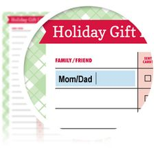 Holiday Gift Giving List - Download here: https://www.alejandra.tv/shop/printable-home-organizing-checklists/?utm_source=Pinterest&utm_medium=Pin&utm_content=Checklistk&utm_campaign=Pin  Use this checklist keep track of all of the holiday cards you need to send  and holiday gifts you need to buy for family, friends, and coworkers. The list also includes space for brainstorming gift ideas and setting deadlines for completing your shopping!