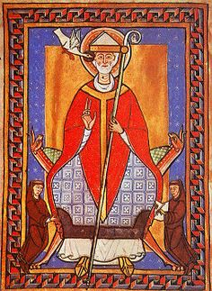 """Pope Saint Gregory VII - Difficult times call for courageous measures.and dire consequences. """"I have loved justice and hated iniquity; therefore, I die in exile. Catholic Saints, Roman Catholic, Happy Feast Day, Saint Gregory, Holy Roman Empire, Roman Emperor, Anglo Saxon, Sacred Art, Illuminated Manuscript"""