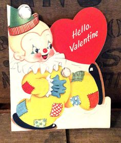 Vintage Antique Estate Hello Valentine Cards by MADVintology