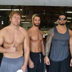 They all look good but seriously Roman is sexier wearing a sweaty tank top and shades. The man is flawless!