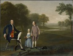 """history-of-fashion: Arthur Devis - Richard Moretan, Esq. of Tackley with His Nephew and Niece John and Susanna Weyland """" Clark Art, Lion Love, Esquire, Massachusetts Usa, Old Master, A4 Poster, Poster Size Prints, Oil On Canvas, Architecture Sketches"""