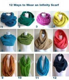 12 ways to wear an infinity scarf