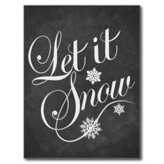 Let It Snow Chalkboard Christmas Gifts - Let It Snow Chalkboard ...
