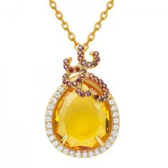 A fiery Citrine set in sterling silver with a yellow gold plate that compliments the main stone beautifully! Silver Whispering is a collection inspired by the designer, Fei Liu, fine Whispering Collection. Miniture Things, Pendant Necklace, Jewellery, Sterling Silver, Luxury, Gold, Jewelery, Jewlery, Drop Necklace