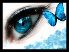 Blue eye and light blue butterfly. Eclipse Total Del Amor, Love Blue, Pretty In Pink, Emo Love, Eye Pictures, Blue Green Eyes, Eyes Lips Face, Magic Eyes, Look Into My Eyes