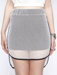 as shorts, or skirt, overlay