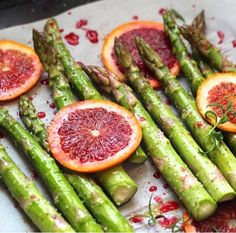 Asparagus and Blood Oranges