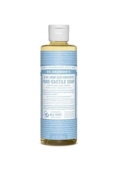 10 Products That Will Make Even The Most Die-Hard Makeup Disappear | Refinery29 | Bloglovin'. Dr. Bronner Baby Unscented Pure-Castile Soap, $6.69, available at Dr. Bronner.