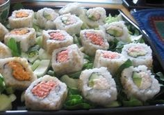 California rolls....I never get tired of them.  In fact, Sushi in general....love, LOVE it!