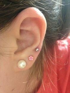 Triple lobe piercing