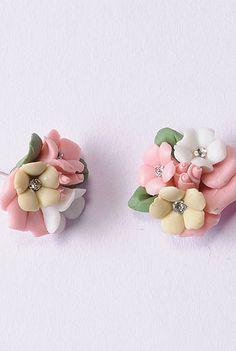 Floral posy earrings