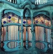 Gaudi. Window of Casa Batllo.