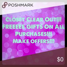 🎁 FREE GIFTS WITH EVERY PURCHASE!!! 🎁 For every purchase you will receive free gifts!!! Gifts vary with every order!!! I usually give 2 or more FREE gifts with all orders!!! The more you purchase the better the gifts!!! Accessories