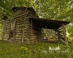 Tobacco Barn; Nature Photography, Log Cabin, Log Cabin Decor, Rustic Decor, Nature Print, Logs, Cabin Decor, Barn Wood, Cabin Art