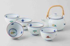 Tokyo Matcha Selection - [Value] Hasami Porcelain :  LUCKY - Japanese Kyusu Tea pot