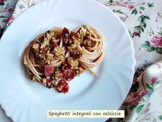 Spaghetti+integrali+con+salsiccia