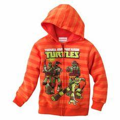 My daughter would love this!- Teenage Mutant Ninja Turtles Striped Hoodie - Boys 4-7 #TMNTGiveaway