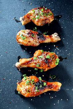 Korean Glazed Chicken Drumsticks-Flavorful Chicken Drumstick Recipes Made these 2/11/14- delicious!!