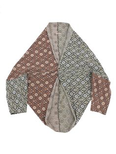 KAPITAL, love the shape - pattern play and the fact that it is symmetrical on the horizontal sleeve opening line. BUT how it looks on a person? it has to be very stiff to keep the kimono feel when worn
