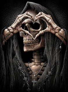 Ghost Rider Wallpaper, Joker Hd Wallpaper, Joker Wallpapers, Skull Wallpaper, Grim Reaper Art, Grim Reaper Tattoo, Beautiful Dark Art, Dark Love, Dark Fantasy Art