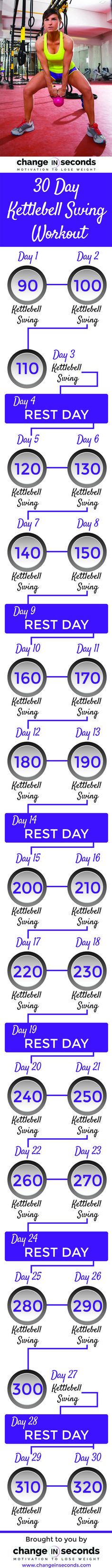 Kettlebell Workout https://www.changeinseconds.com/30-day-kettlebell-swing-workout/