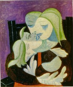 Una Lady italiana — kundst: Pablo Picasso (Sp. 1881-1973) Mother...