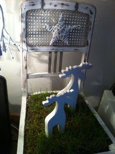 Alter Stuhl neu gefertigt im vintage Stiel