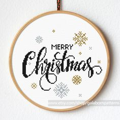 Christmas snow cross stitch - Modern cross stitch pattern - Xmas - Snowflakes cross stitch