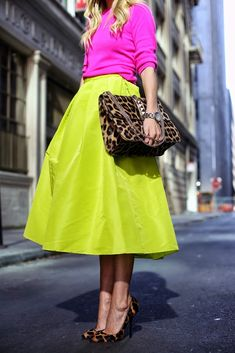 neons and leopard