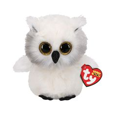 Ty Beanie Boo's Austin The White Owl Regular - Cuddle with an adorable Beanie Boo! Who can resist an adorable Beanie Boo with its big beady eyes a Ty Beanie Boos, Beanie Babies, Peluche Harry Potter, Ty Peluche, Owl Pet, Cute Stuffed Animals, Look Into My Eyes, Princesas Disney, Snuggles