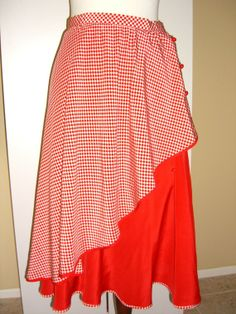 Vintage  yet oh-so Au Courant! Valentino Silk Skirt Double Layer Gingham by OwlVintage, $148.00
