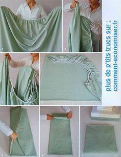 Comment bien pliser un drap housse