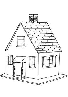 La petite maison, simple mais jolie à colorier