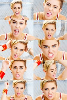Miley Cyrus in 23 music video. I LOVE her makeup here!!