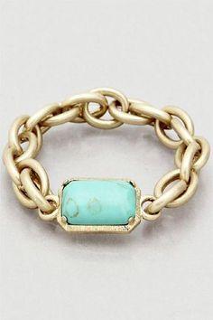 Stretch Turquoise Bracelet