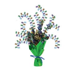 Bright And Bold Foil Spray Centerpiece 30th/Case of 6