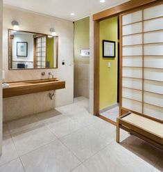 Inspiration Web Design Simple master bathroom in New York loft with strong Japanese overtones